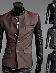 affaires commerciales de loisirs de veste de costume mince des hommes (accessoires de couleur aléatoire)