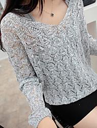 xiaonvren V Neck Knitwear_X58(Gray,Black,Blue)