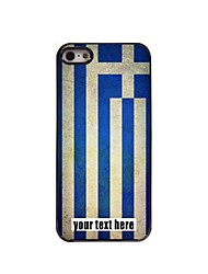 Personalized Case Flag of Greece Design Metal Case for iPhone 5/5S