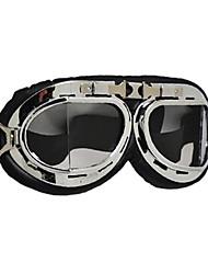 pliegue de marca gafas de seguridad moto scooter de moto casco gafas gafas de cristal transparente