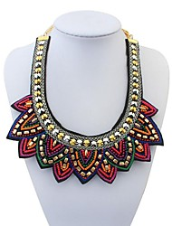 Women's Ethnic Bling-bling Mini Beads Sweatershirt Bib Statement Necklace