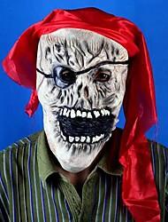 Red Headcloth Pirate Latex Halloween Mask