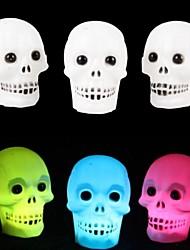 toonykelly® Halloween décoratifs colorés Alimentations lumière de crâne MITB du parti (1pc)