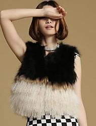 имитация женская загар овец меховой жилет
