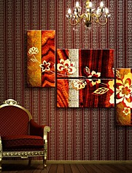 Stretched Canvas Art Abstract Flowers Set of 4