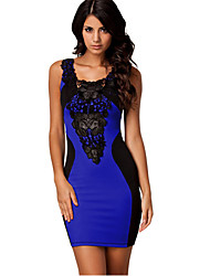 VICONE Women's Sleeveless Sexy Bodycon Lace Slim Dresses