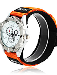Kinderen Sport White Matrix Patroon Nylon Band Wrist Watch (1 st)