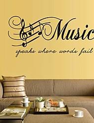 Tatuajes de pared pegatinas de pared, pvc música pegatinas de pared