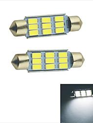 Carking ™-Girlande 41mm-5630-9SMD Auto-LED-Lampe Rom White Light (12V/2PCS)