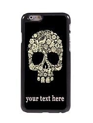 """Personalized Case Flower and Skull Design Metal Case for iPhone 6 (4.7"""")"""
