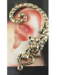 LALA Women's Punk Tiger Single Hanging Earrings