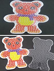 1pcs modèle perles Perler clairement panneau perforé motif d'ours de foulard pour perles hama 5mm perles fusibles