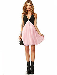 YIBEIER Fashion V Neck Strap Dress_54
