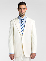 (Premium) White 100% Wool Tailored Fit Two-Piece uit