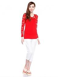 amo fio camisa assentamento das even® mulheres (vermelho)