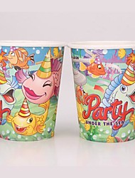 Coway 50PCS The Seabed Around Huan Party Disposable Paper Cup Cartoon Environmental Protection