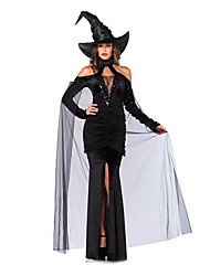 Performance Women's Witch Costume Dress With Hat