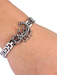 bracelet en argent de tennis en alliage de forme de scorpion de mode pour hommes (1 pc)