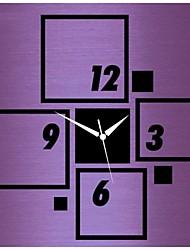 Style moderne bricolage 3d nouvelle acrylique miroir carré horloge murale
