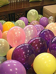 100PCS Mylar Pearl Balloon(Assorted Color)