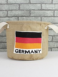Multi-function Flag Folded Cloth Jute Clothes Storage Bags