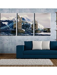 Personalized Canvas Print Under The Waves Of The Bridge  35x50cm  40x60cm  50x70cm  Framed Canvas Painting  Set of 3