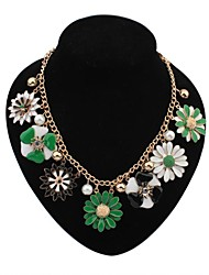 Women's EU&US Luxurious Exquisite Daisy Flowers Bib Statement Necklace