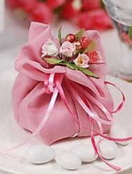 10 piezas preciosas de color rosa bolsas de dulces de bodas más utilizada,