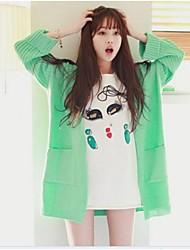 женская зеленой мяты кондиционер кардиган свитер