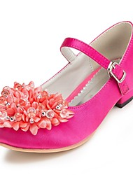 Girl's Flats Spring / Summer / Fall / Winter Comfort Satin Wedding Flat Heel Flower Pink / Red / Ivory / White