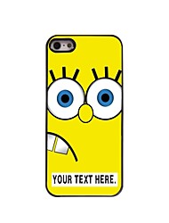 Personalized Case Cartoon Yellow Design Metal Case for iPhone 5/5S