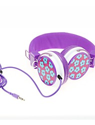 WZS Headphone 3.5mm Over Ear Hi-Fi Stereo with Microphone Noise-Cancelling for Mobile Phone