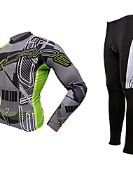MOON® Cycling Jersey with Tights Long Sleeve BikeBreathable / Thermal / Warm / Anatomic Design / Fleece Lining / Ultraviolet Resistant /