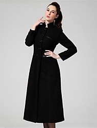 Women's Fashion Single Breasted Winter Cashmere Coat with Belt