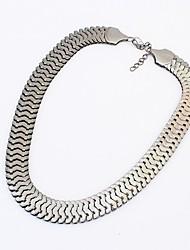 de metal grossa corrente colar elegante da moda