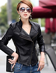 LULU Women's Slim Long Sleeve Temperament Coats