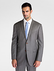 gris 100% de lana oscura adaptada chaqueta de ajuste
