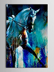 Hand Painted Oil Painting Animal Running Horse Wall Decoration with Stretched Frame