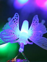 LED String Light 1 Light Modern Butterfly Shape Purple Plastic 5m 220V