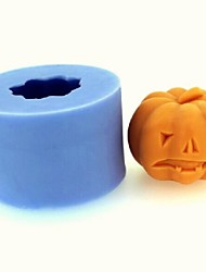 Halloween Pumpkin Fondant Cake Chocolate Candle Silicone Mold,L4.3cm*W4.3cm*H3.4cm