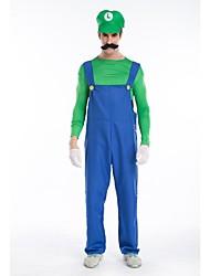 encanadores Luigi jardineiras traje de Halloween jogo de animação dos homens uniforme global