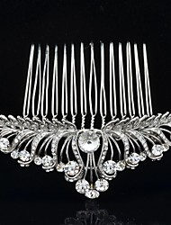 8.2cm Wedding Bridal Jewelry Glittering Rhinestone Hair Comb Tiara for Party