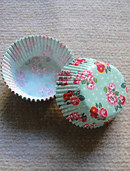 printemps fleuri Cupcake Wrappers-ensemble de 50