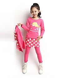 mode vague doux moment le sport trois pièces ensemble de vêtements pour fille