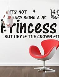 zooyoo® abnehmbaren bunt Modewort und Prinzessin Wandaufkleberausgangsdekorwandaufkleber für Kind / lbed Zimmer