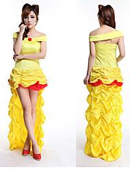 Elegante Goldene Königin Asymmetrische Kleid Damen Halloween Kostüm