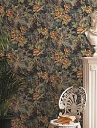 mur papier mural, papier peint contemporain de papier pur floral