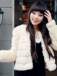 Women Faux Fur Outerwear , Fleece Lining