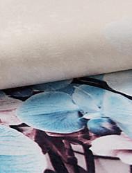 un ture du panneau polyester botanique floral rideau drapé