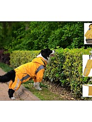 Large Dog Raincoat Clothes (Includes Jacket&Pants&package) for Big Dogs(Orange Green)